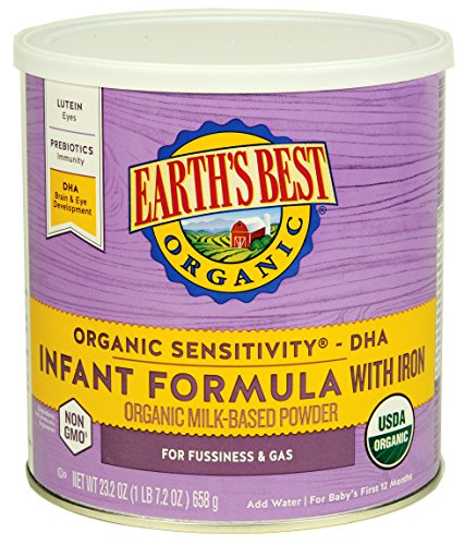 Earth's Best Baby Organic Sensitivity Infant Formula with Iron, 23.2 Ounce (Pack of 4) by Earth's Best