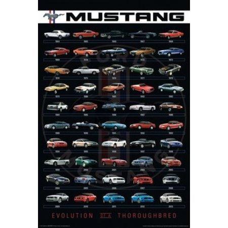 OKSLO Ford - Mustang Evolution Poster Poster Print
