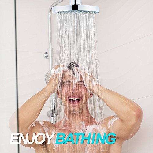 Shower Head - High Pressure Rain - Luxury Modern Look - Easy Tool Free Installation - The Perfect Adjustable & Heavy Duty Universal Replacement For Your Bathroom Shower Heads by SparkPod (Image #6)
