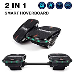 Easy and Fast Charging Easily charge the battery of your hover shoes (hover board) at home or in the office with the included charging cable in just 2 to 3 hours time. Built-in LED Lights for Swag & Safety Instantly check on the status of...