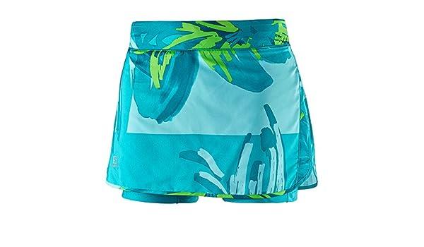 Salomon Agile Bird Falda, Mujer, Azul, S: Amazon.es: Ropa y accesorios