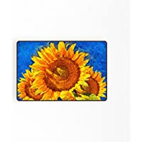 Orange Design Van Gogn Sunflower Doormat Entrance Mat Bathroom Rug Non Slip 15.7x 23.6