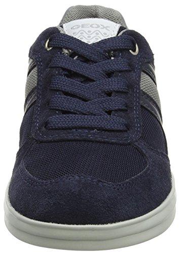 Geox J Anthor Boy B, Zapatillas Para Niños Azul (Navy/grey)