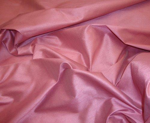 - Dusty Rose Shantung Dupioni Faux Silk Fabric Per Yard