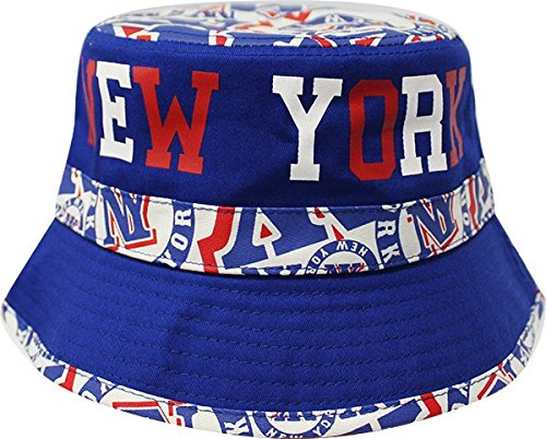 New York Bucket Team Color City Name Printed Bucket Hat Unisex 427f3bf999e