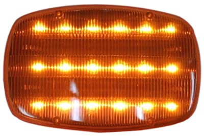 ROAD GENIE Highway Safety Steady / flashing Light With Magnetic Back - 18 LED lights: FL250XXL-Y-S