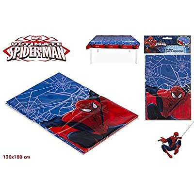 Colorbaby, 71903, nappe en plastique spiderman, 120x180 cm.