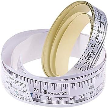 mansum New 1PC 90//151cm Self Adhesive Metric Measure Tape Vinyl Ruler For Sewing Machine Sticker Adhesive Measure Tape Wholesale,A