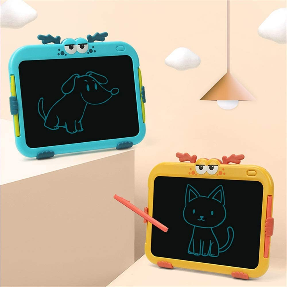 LCD Writing Tablet 8.5 Inch Childrens Drawing Board LCD Electronic Handwriting Board Graffiti Board Painting Board Drawing Tablet for Kids Color : Yellow, Size : 8.5 inches