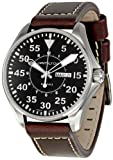 Hamilton Men's H64611535 Khaki King Pilot Black Watch with Brown Leather Band
