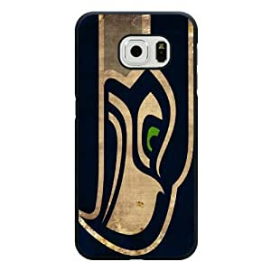 Samsung Galaxy S6 Edge Case, Customized NFL Seattle Seahawks Logo Black Hard Shell Samsung Galaxy S6 Edge Case, Seattle Seahawks Logo Galaxy S6 Edge Case(Only Fit for Galaxy S6 Edge)