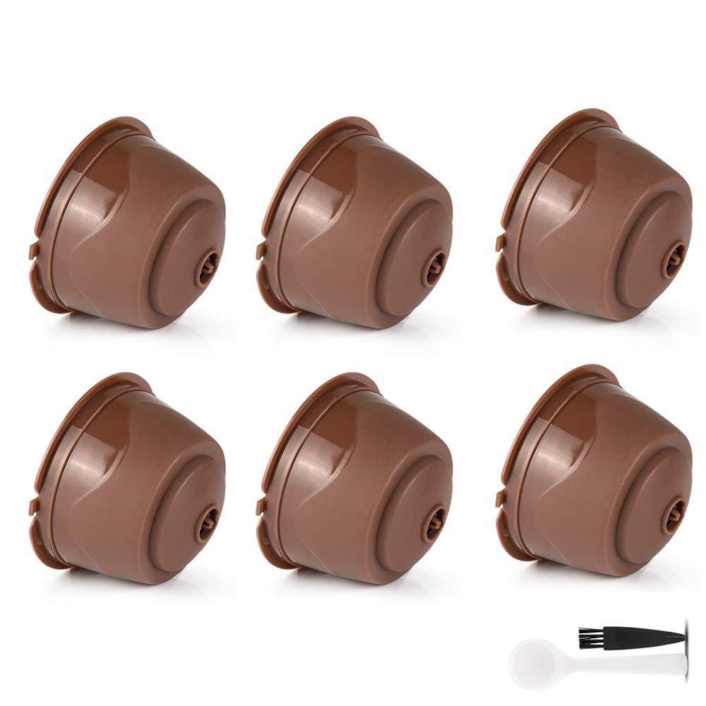 brbhom 6 piezas cuchara de café Dolce Gusto cápsulas de café reutilizable filtro de café para máquina Dolce Gusto pod recargables con, cepillo: Amazon.es: ...