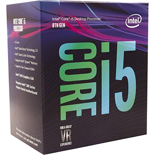 Intel Core i5-8400 Desktop Processor 6 Cores up to 4.0 GHz  LGA 1151 300 Series 65W