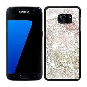 funda carcasa para Samsung Galaxy S7 Edge estampado mandala colores borde negro