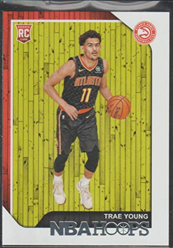 2018-19 Hoops Trae Young Hawks Rookie Basketball Card #250