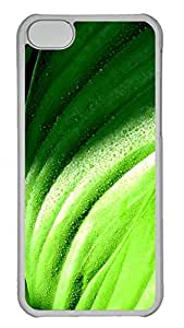 iPhone 5C Case, iPhone 5C Cases -Green drip Colorful Polycarbonate Hard Case Back Cover for iPhone 5C¨C Transparent