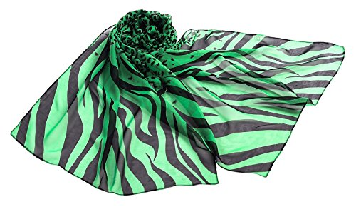 Zebra Silk Accessories Green - 2