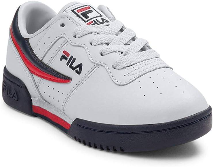 Fila Zapatillas de Moda para niños 11,5 Mediano de EE.UU. Blanco: Amazon.es: Zapatos y complementos