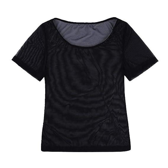 1e653bda5d5 CHICTRY Women s Lingerie Bra Mesh See-Through Crop Tops Sexy Everyday Bra  Bralette Short Sleeve