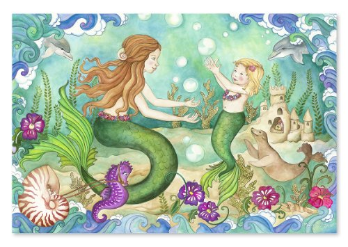 Melissa and Doug Mermaid Playground 48 Piece Floor Puzzle, Baby & Kids Zone