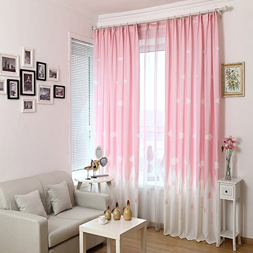 Nantong Gyrotex Co.,Ltd Children's Castle of Angel Print Blackout Double Pleated Curtain Room Darkening Engery Saving Drape Noise Reducing No Formaldehyde