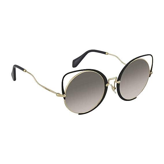 3b5c176cb6f4 Miu Miu Women's 0MU51TS 1AB0A7 54 Sunglasses, (Pale Gold/Black/Grey ...