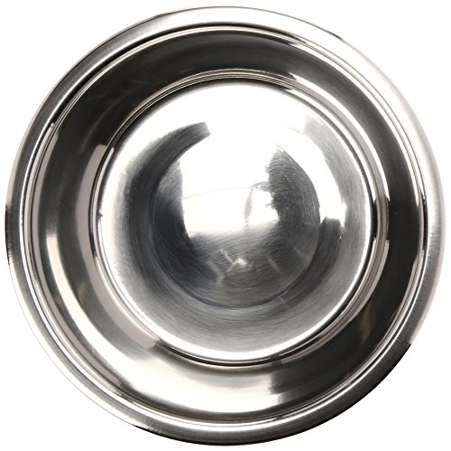 QT Dog Standard Stainless Steel Food Bowl, 2 Quart ()