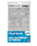 Chartpak Dry Transfer Letters and Numbers, 24PT
