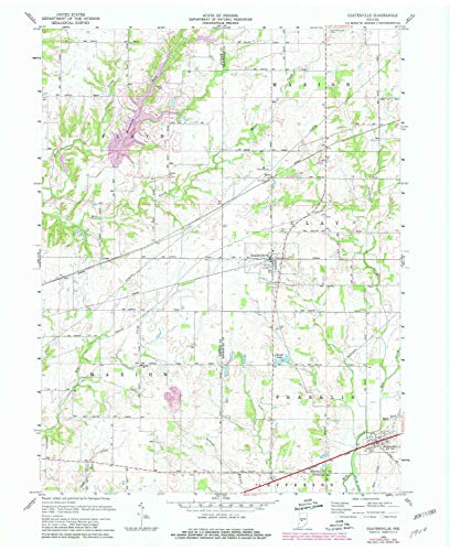 YellowMaps Coatesville in topo map, 1:24000 Scale, 7.5 X 7.5 Minute, Historical, 1970, Updated 1981, 27 x 22.1 in - Paper
