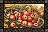 """TheApple Picking fall indoor/outdoor doormat is from Magnet Works' MatMates line. Thisfall doormat is printed on durable polyesterfabric with a non-slip, recycledrubber backing. Thisfall doormat measures 18""""x 30"""", making it a perfect ..."""
