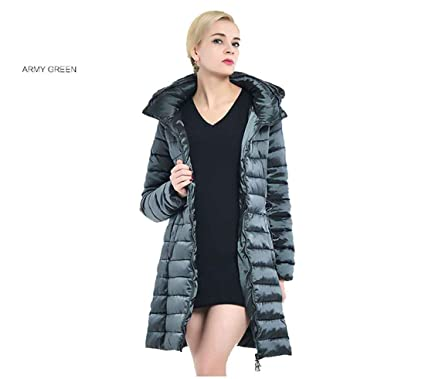Abrigo de mujer Chaqueta larga Parka de invierno Ropa Espesar Mujeres  calientes Abrigo Chaquetas de gran 908b266352ad