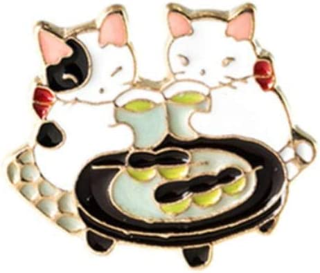 Kentop Gato de Dibujos Animados Broches para Ropa Mujer: Amazon.es: Hogar