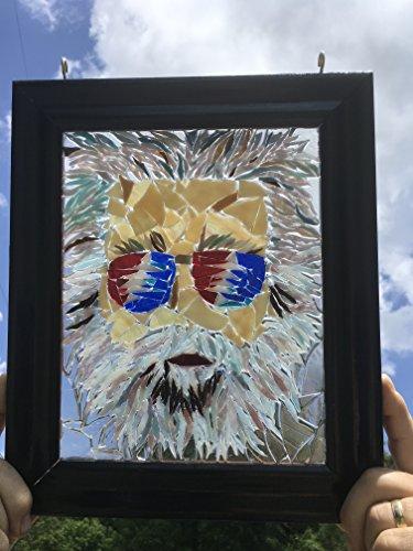 Jerry Garcia stained glass window art suncatcher by Mountain Mosaics (Image #4)