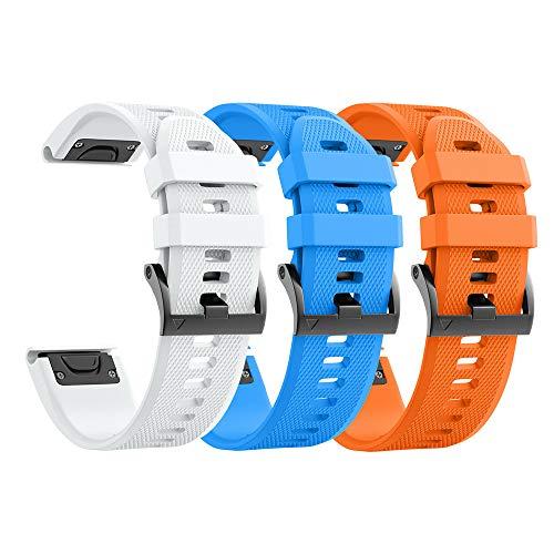 Mallas para reloj fenix 5x 5xplus 6x 6xpro 3 3hr (3un)