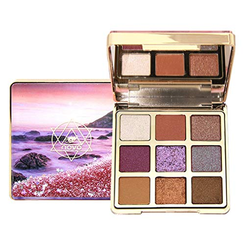 Jeeke 9 Color Eyeshadow Diamonds Pearlescent Glitter Eye Shadow Tray Face Glow Cosmetic Makeup (Color A, 9 Color/Set)