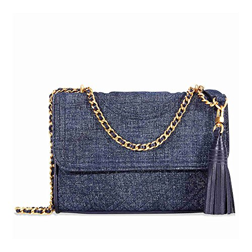 Tory Burch Fleming Convertible Small Leather Shoulder Bag (Navy - Sale Bag Tory Burch