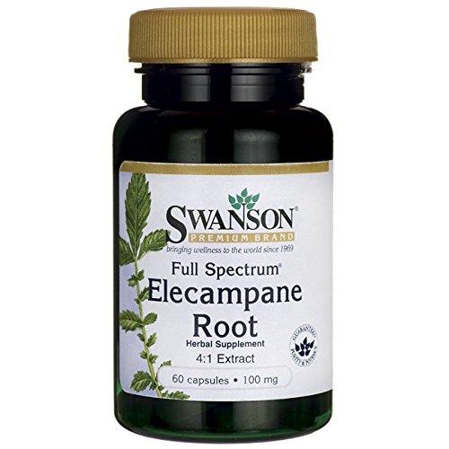 - Swanson Full Spectrum Elecampane Root (4:1) 100 Milligrams 60 Capsules