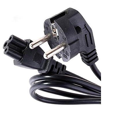 Cable de Alimentacion Luz Red Corriente Ordenador Portatil Tipo Mickey Enchufe 3 polos 220V