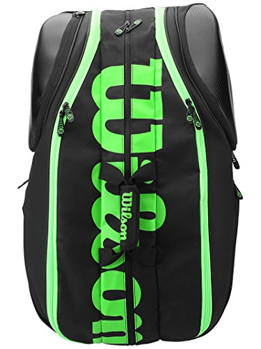 Wilson Blade Collection Racket Bag (15 Pack), Black/Green by Wilson (Image #2)
