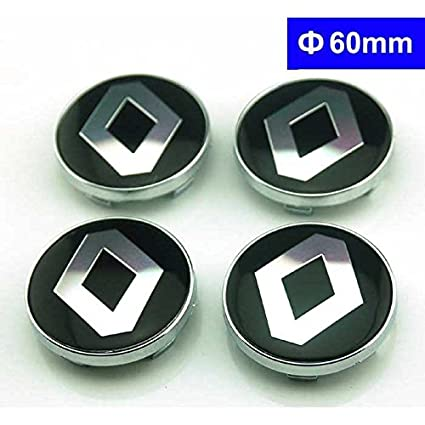 4pcs W173 60mm Car Styling Accessories Emblem Badge Sticker Wheel Hub Caps Centre Cover Renault Megane