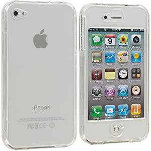 Accessory Planet(TM) Clear (Covered) Crystal Transparent Hard Snap-On Case Cover for Apple iPhone 4 / 4S