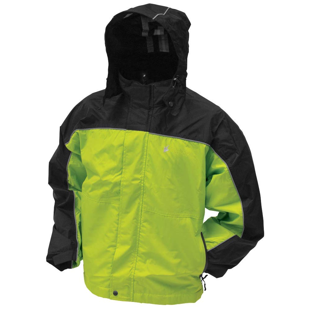 Frogg Toggs Toadz Highway Reflective Jacket, Black/Hivis Reflective, Size XX-Large by Frogg Toggs