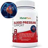 Natural Blood Pressure Supplement: Blood Pressure Support with Hawthorn Berry and Uva Ursi: Herbs and Vitamins for High Blood Pressure: 90 Capsules: 100% Money Back Guarantee
