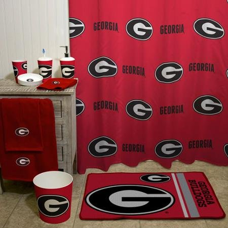 NCAA University of Georgia Decorative Bath Collection - Shower (Georgia Bulldogs Shower Curtain)