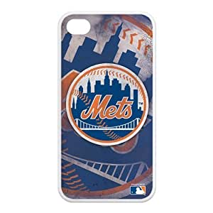 MLB New York Mets Retro Vintage Style Hard Shell Case for Iphone 4/4s (TPU)