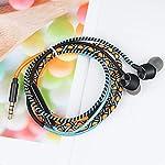 URIZONS-Auricolari-in-Ear-Cuffiette-Cuffie-con-Microfono-e-Telecomando-per-iPhone-iPad-iPod-Mac-Laptop-Tablet-Smartphone-Android-trib-di-Fili-Tessuti-a-Mano-avvolta-Auricolare-Arancia
