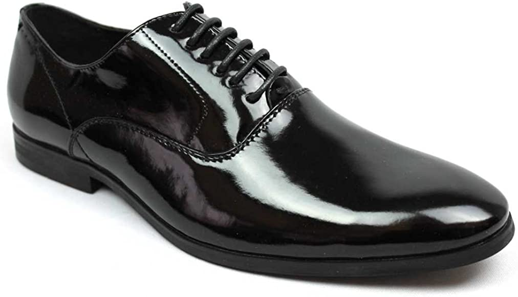 471aef71167e Men's Tuxedo Shoes Patent Leather Traditional Round Toe Lace Up Oxfords AZAR  (6.5 U.S (