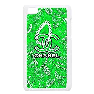 DIY Stylish Printing Chanel Cover Custom Case For Ipod Touch 4 MK2B3572