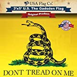 USA Flag Co. Gadsden Flag (Don't Tread On Me) is 100% American Made: The Best 3×5 Outdoor US Flags, Made in The USA (3 x 5 Foot)