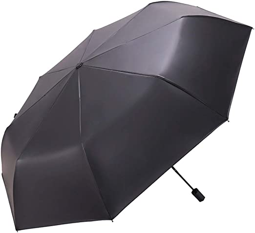 Yangdengwei Parasol Waterproof Black Anti-UV Sun Umbrella Ultra Light rain Dual-use Umbrella Sunscreen Zero Light Folding Umbrella Color : Pink